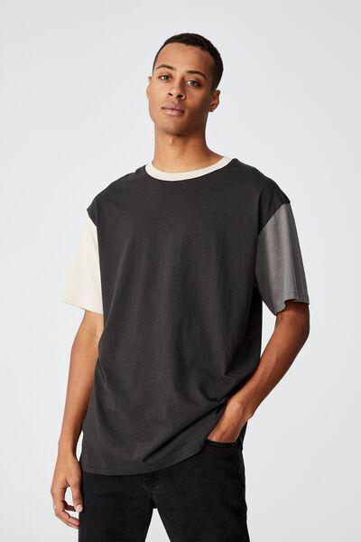 Festival T-Shirt, WASHED BLACK BLOCKED