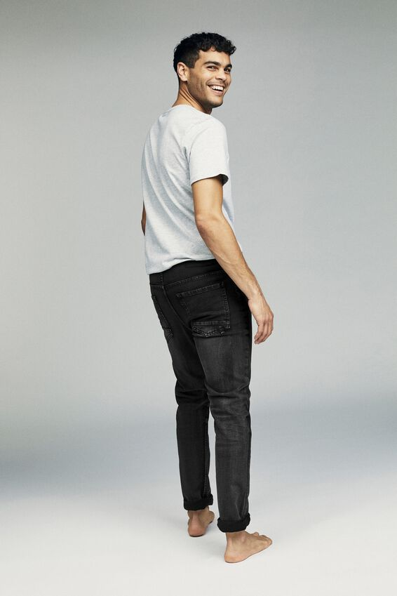 Tapered Leg Jean, WORKER BLACK
