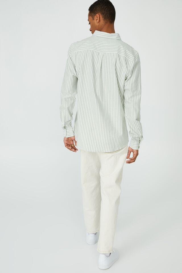 Brunswick Shirt 3, SAGE STRIPE
