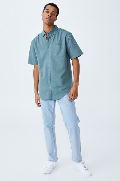 Vintage Prep Short Sleeve Shirt, TROOPER BLUE