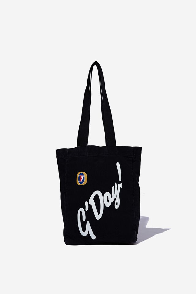 Fosters Shoulder Tote, LCN FOS WASHED BLACK/FOSTERS GDAY