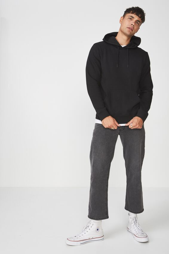 Fleece Pullover 2, BLACK