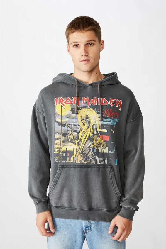 Premium Collab Fleece Pullover, LCN IM FADED SLATE ACID/IRON MAIDEN - KILLERS