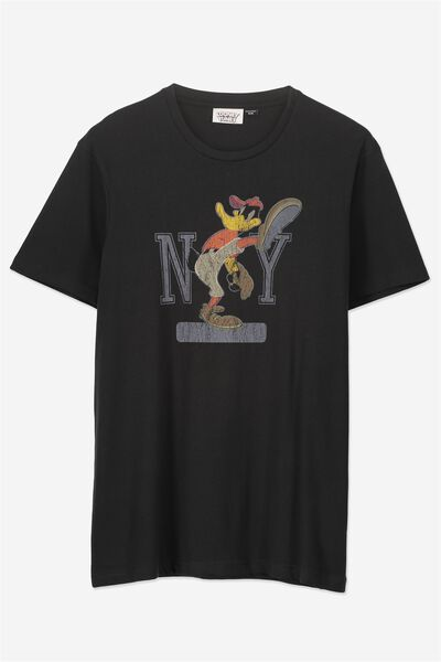 Tbar Collaboration Tee, LC WASHED BLACK/NY DAFFY