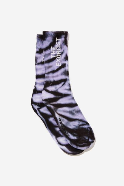 Special Edition Active Sock, LCN WB PURPLE TIE DYE/THE EXORCIST