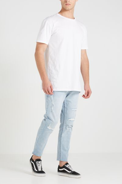Tapered Leg Jean, VALLEY BLUE GRAZER WITH RIPS