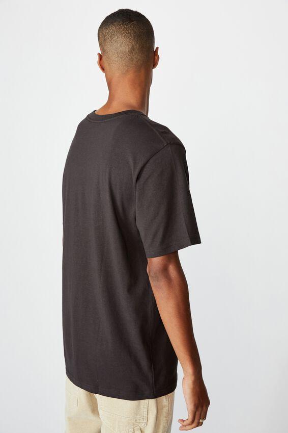 Tbar Collab Music T-Shirt, LCN WMG WASHED BLACK/WIZ KHALIFA - SMOKE