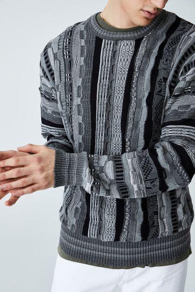 Vintage Knit, BLACK MULTI