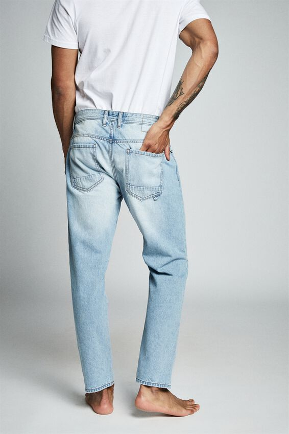 Rigid Relaxed Jean, VINTAGE BLUE + RIPS