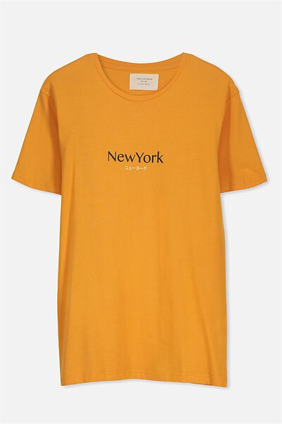 Tbar Tee 2, SUN ORANGE/NEW YORK TRANSLATE
