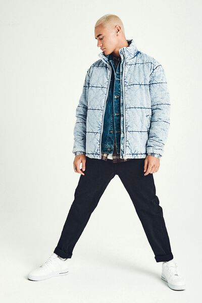 Denim Puffer, BECKLEY BLUE