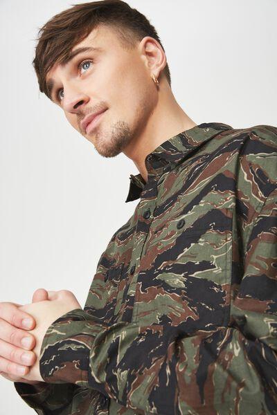 Long Sleeve Workwear Shirt, TIGER CAMO