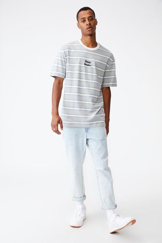 Dylan T-Shirt, BLUE HAZE VERIGATED STRIPE