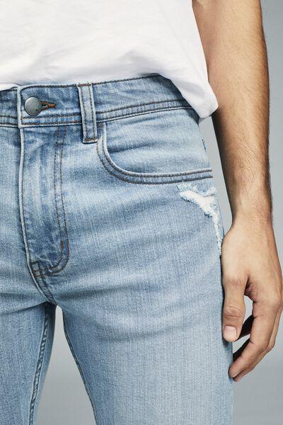 Super Skinny Jean, SUMMER BLUE + RIPS