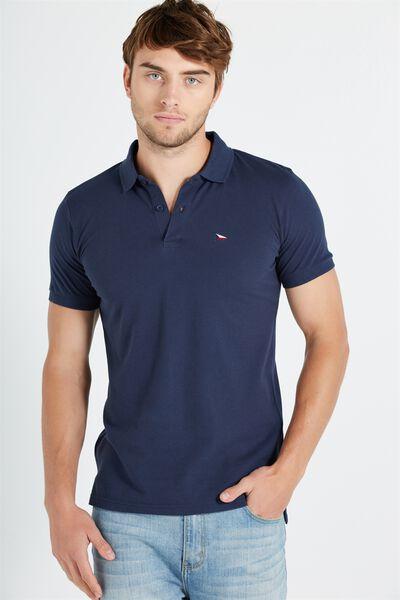 Short Sleeve Icon Polo, NAVY/BRONX