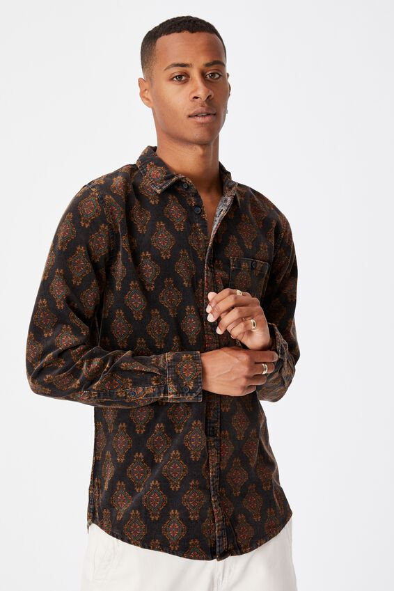 Festival Long Sleeve Shirt, ORNAMENT PAISLY