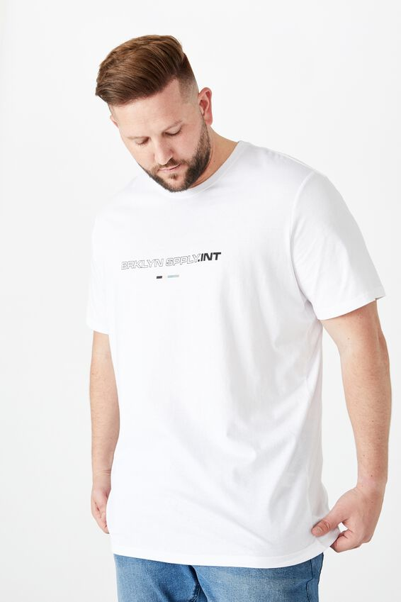 Tbar Tee, WHITE/BRKLYN SPPLY.INT