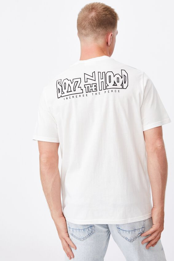 Tbar Collab Movie And Tv T-Shirt, LCN SON VINTAGE WHITE/BOYZ N THE HOOD