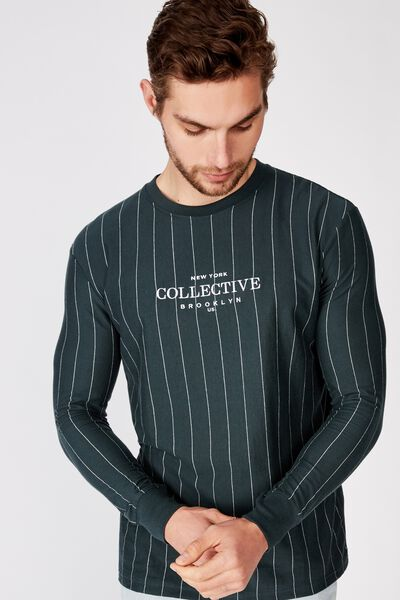 Downtown Long Sleeve, DEEP SEA TEAL/WHITE/NY COLLECTIVE