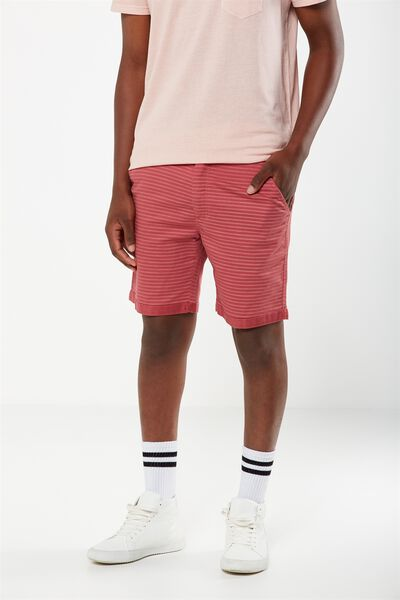 Tailored Casual Short, LIGHT CHERRY/STRIPE