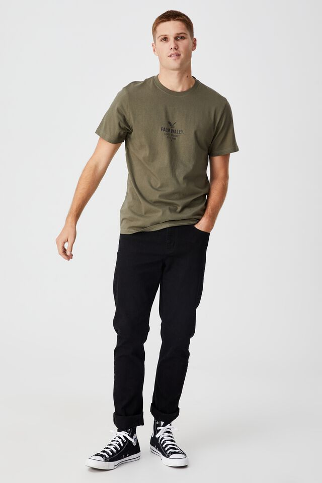 Tbar Moto T-Shirt, MILITARY/PALM VALLEY EAGLE