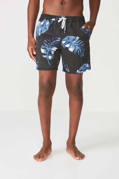 Hoff Short, BLACK/MIDNIGHT LEAVES