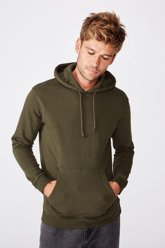 Essential Fleece Pullover, DUFFLE GREEN