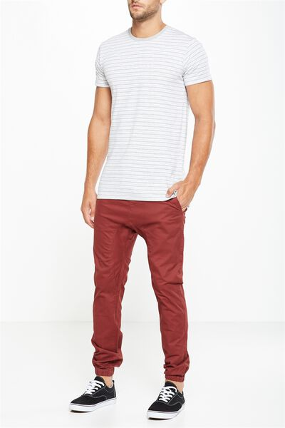 Drake Cuffed Pant, CLARET RED
