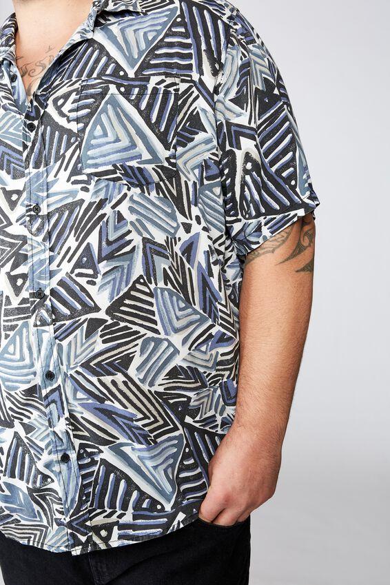 91 Short Sleeve Shirt, GEO TRIBAL
