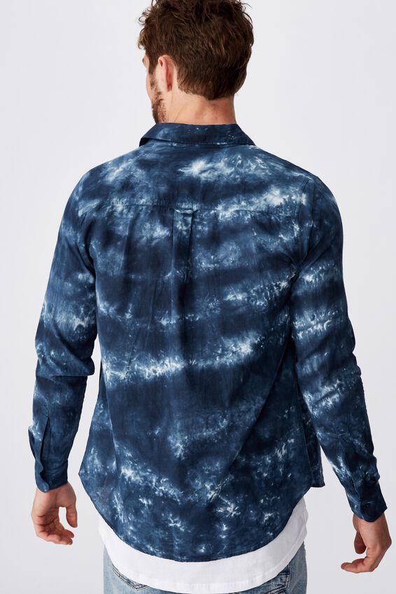 91 Shirt, INDIGO PLACED TYEDYE