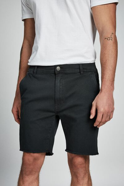 Raw Hem Chino, WASHED BLACK