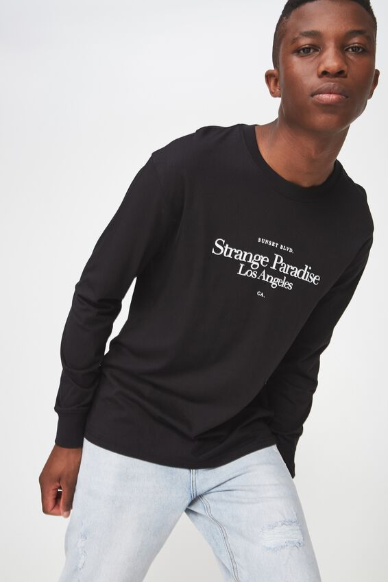 Tbar Long Sleeve, BLACK/SUNSET BLVD
