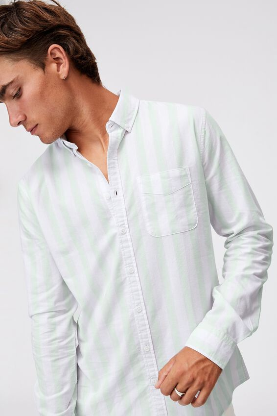 Brunswick Shirt 3, WHITE ICE BOLD STRIPE