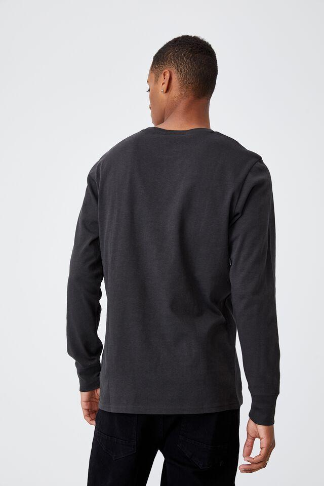 Tbar Collab Long Sleeve T-Shirt, LCN PRO WASHED BLACK/METALLICA - MASTER OF PU