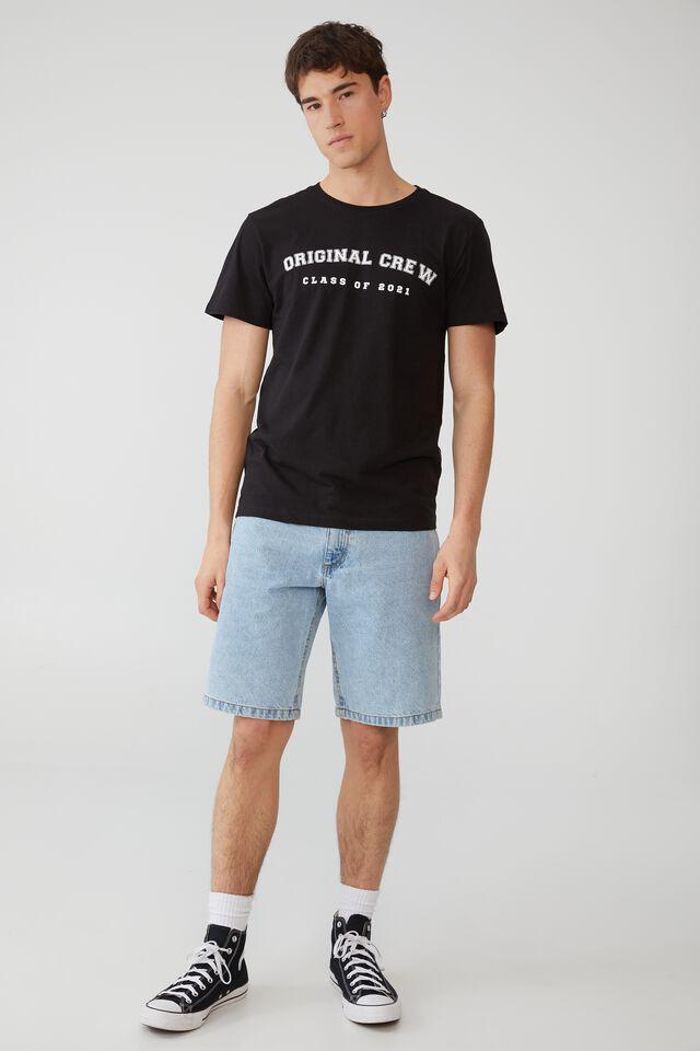 Organic Crew T-Shirt Class Of 2021 Personalised, BLACK/CLASS OF 2021