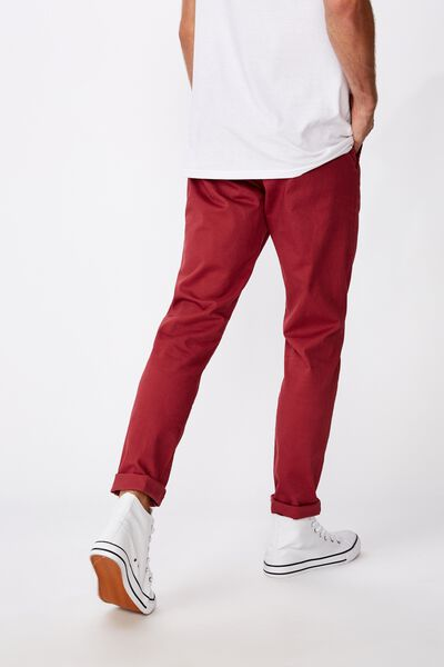 Skinny Stretch Chino, RED