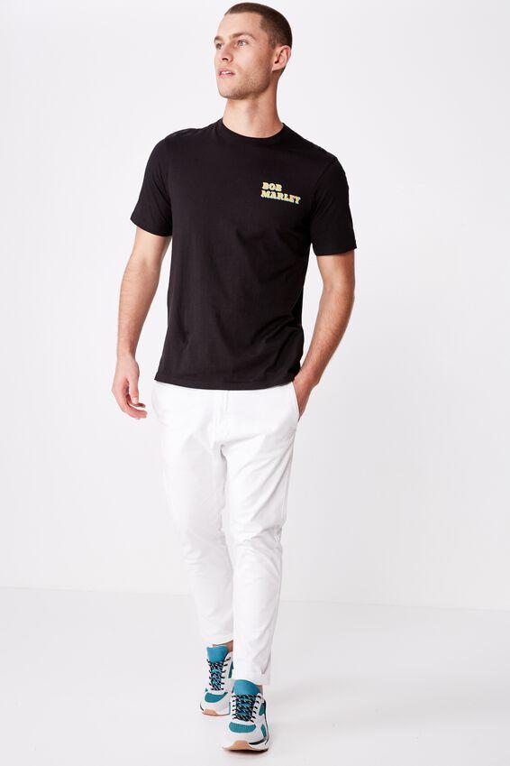 Tbar Collab Music T-Shirt, LCN BRA SK8 BLACK/BOB MARLEY HOMAGE