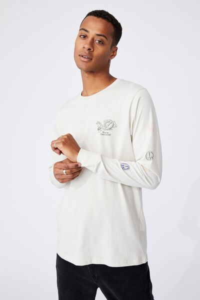 Tbar Long Sleeve T-Shirt, BONE/GIVE ME PEACE AND QUIET