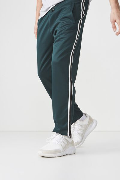 Slim Side Stripe Track Pant, BOTTLE GREEN