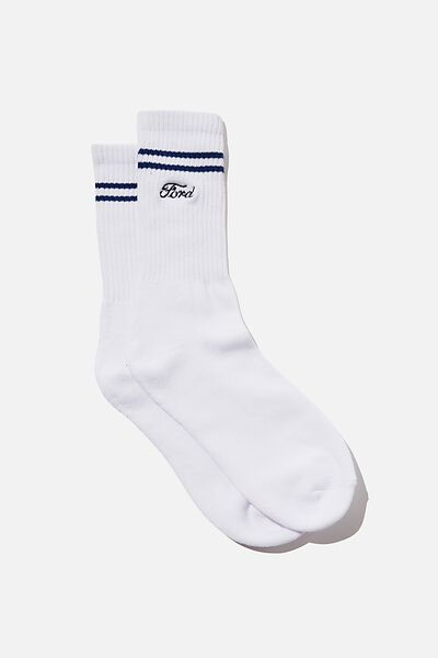 Ford Active Sock, LCN FOR WHITE/FORD STRIPE