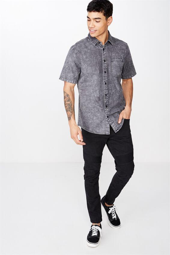 91 Short Sleeve Shirt, BLACK ACID