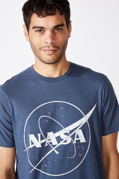 Tbar Collab Pop Culture T-Shirt, LCN NAS MOONLIGHT BLUE/NASA - MEATBALL