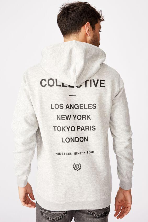 Fleece Pullover 2, LIGHT GREY MARLE/CHAOS COLLECTIVE