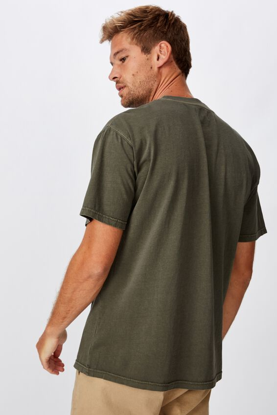 Loose Fit Washed Pocket Tee, WASHED KHAKI