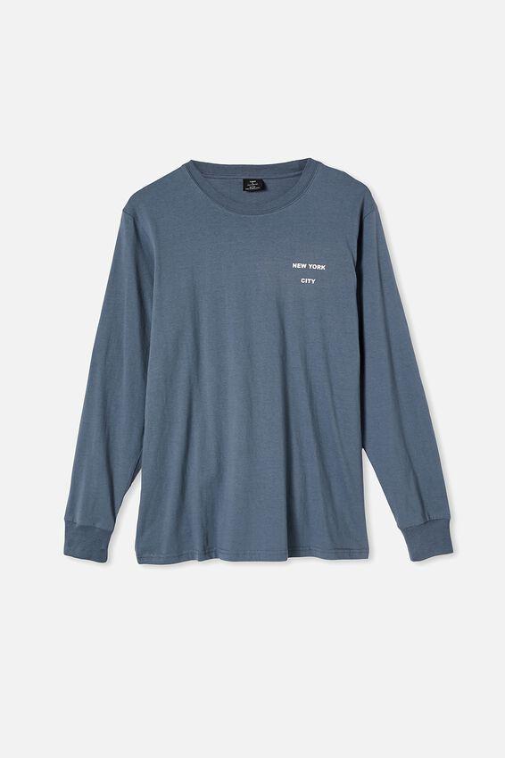 Tbar Long Sleeve T-Shirt, DUSTY DENIM/ORBIT