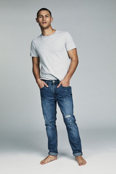 Tapered Leg Jean, ORION BLUE + RIPS
