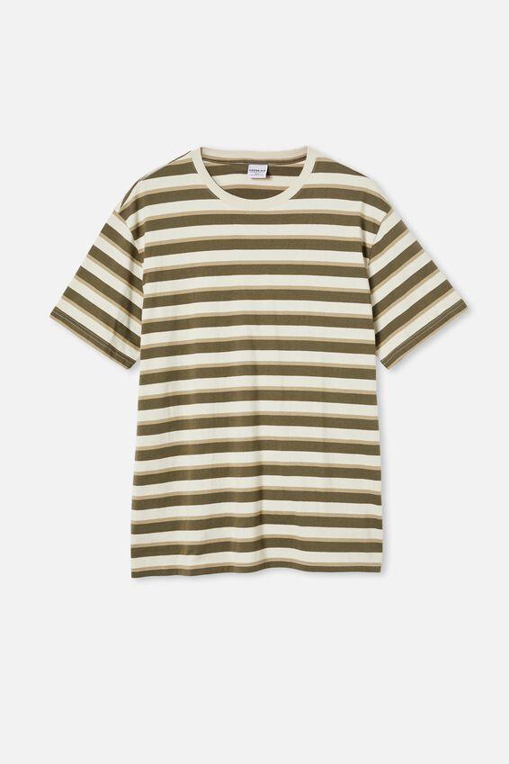 Dylan T-Shirt, MILITARY BOLD STRIPE