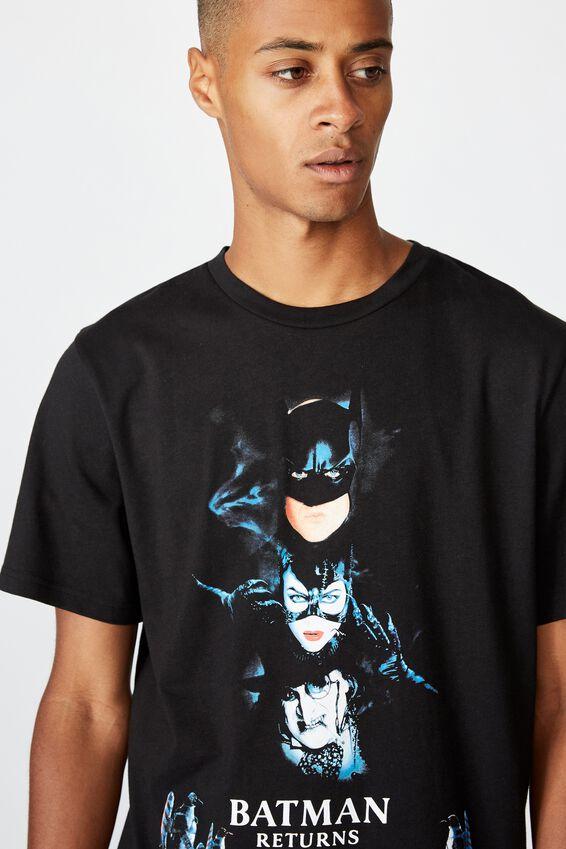 Tbar Collab Movie And Tv T-Shirt, LCN WB BLACK/BATMAN RETURNS