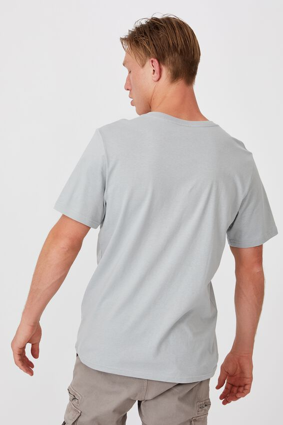 Essential Vee Neck T-Shirt, BLUE HAZE
