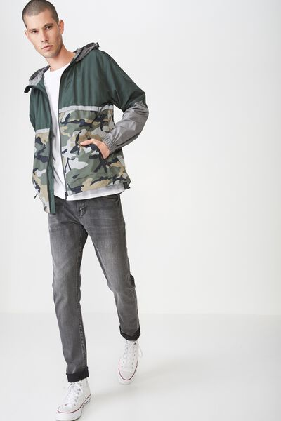Zip Thru Spray Jacket, GREEN CAMO